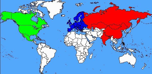 carte hemisphere nord